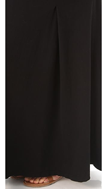 James Perse Box Pleat Maxi Skirt