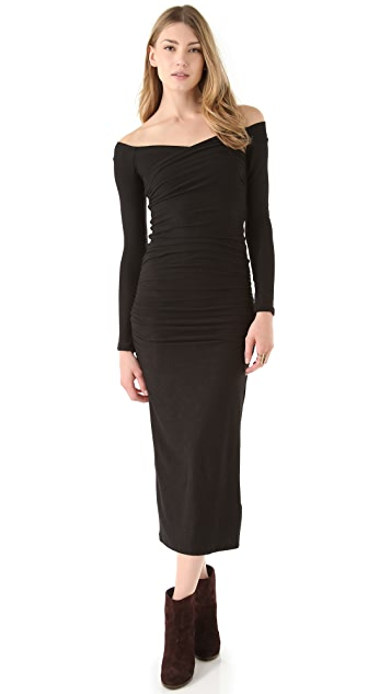 James Perse Wrap Shoulder Dress