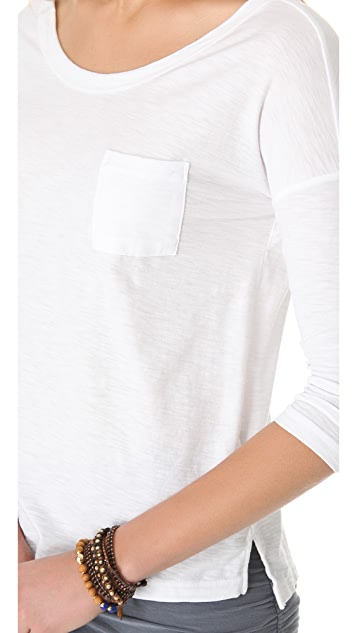 James Perse Low Back Pocket Tee