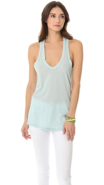 James Perse Clear Jersey Racer Back Tank