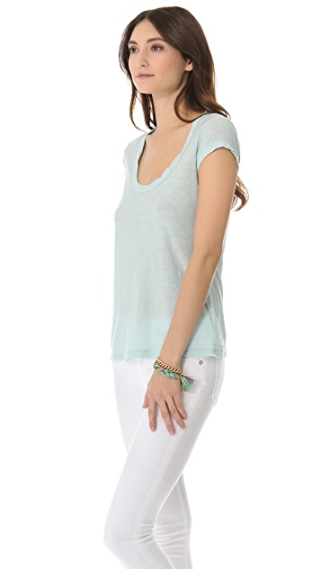 James Perse Cap Sleeve Casual Tee