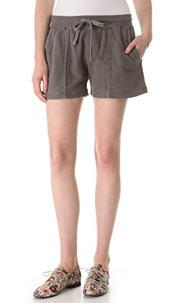 James Perse Pleated Bellow Surplus Shorts