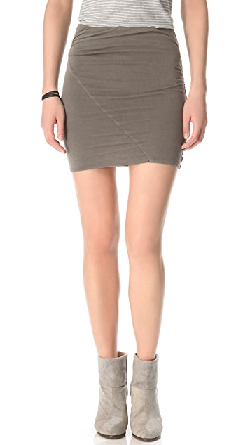 James Perse Asymmetrical Tuck Skirt