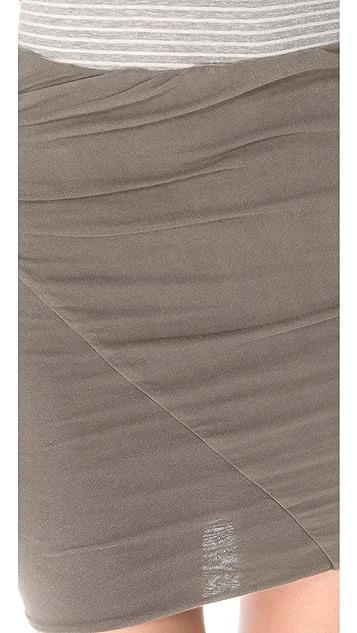 James Perse Asymmetrical Tuck Skirt