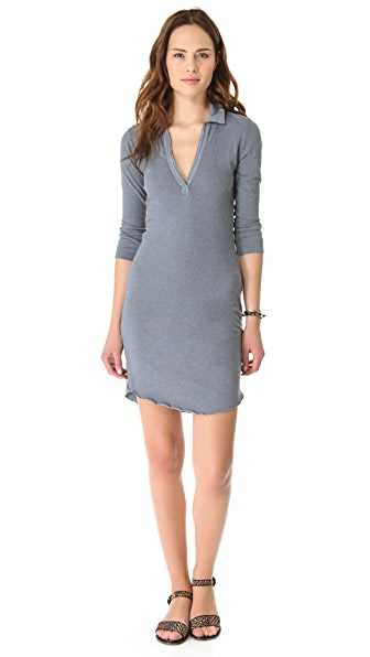 James Perse 3/4 Sleeve Polo Dress
