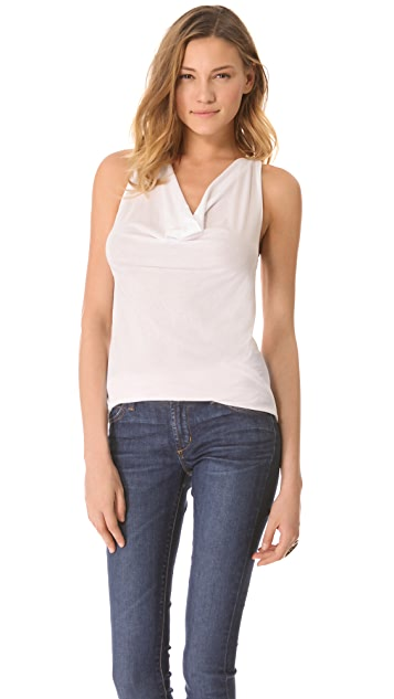 James Perse Cowl Racer Back Tank
