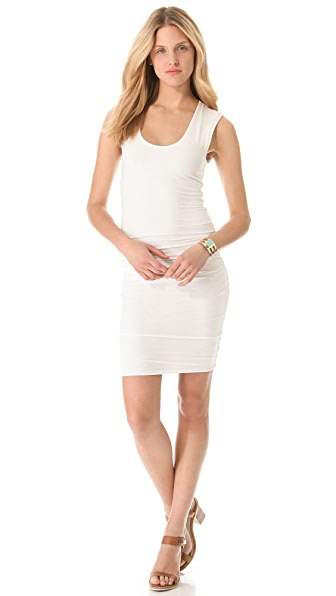 James Perse Wide Strap Ruched Dress