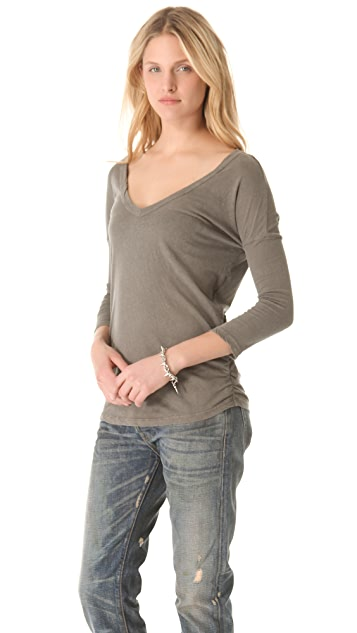 James Perse Relaxed Deep V Top