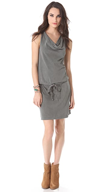 James Perse Sanded Jersey Racer Back Dress
