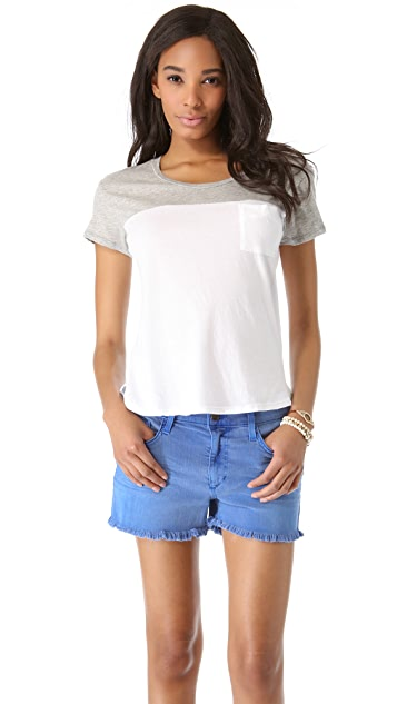 James Perse Colorblock Pocket Tee