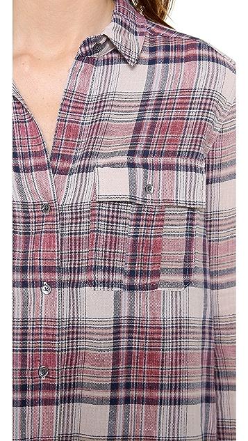 James Perse Shoreditch Plaid Pocket Shirt