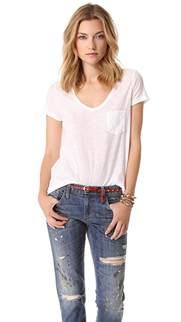 James Perse Slub Boyfriend Tee
