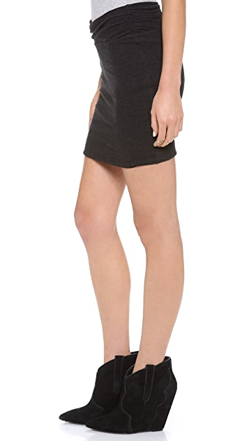 James Perse Wrap Waist Miniskirt