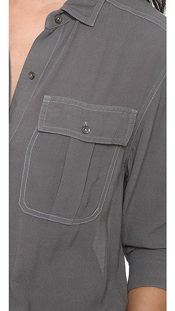 James Perse Crepe Dolman Surplus Shirt
