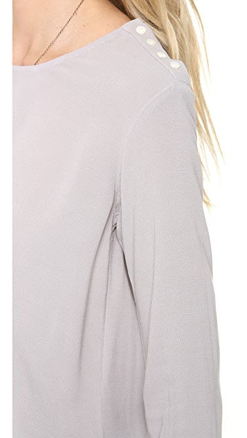 James Perse Button Shoulder Top