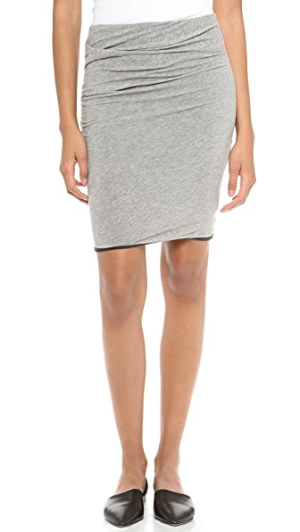 James Perse Twist Hem Tuck Miniskirt