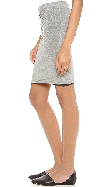 James Perse Twist Hem Tuck Miniskirt