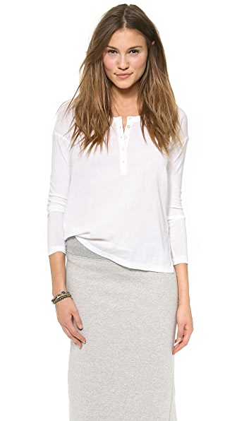 James Perse Boxy Gauze Henley