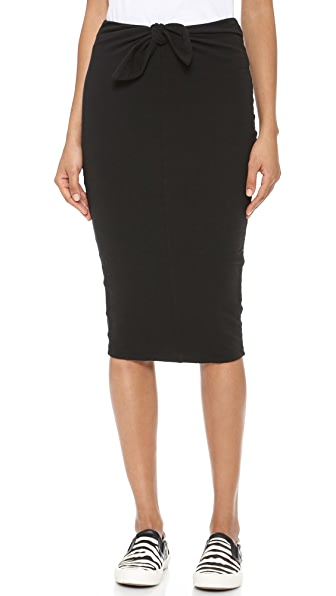 James Perse Tie Front Skirt