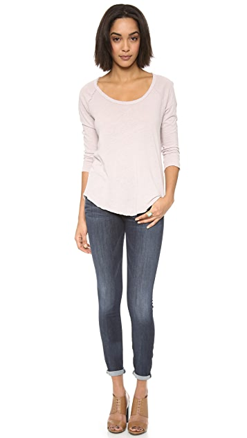 James Perse Inside Out Slub Linen Tee