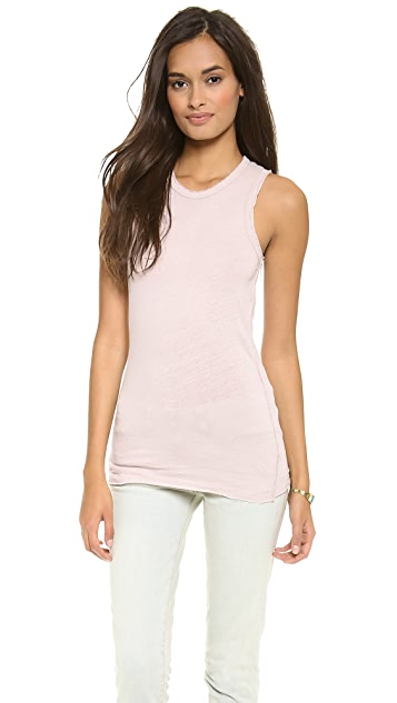 James Perse Inside Out Linen Tomboy Tank
