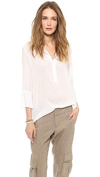 James Perse Chiffon Polo Tunic