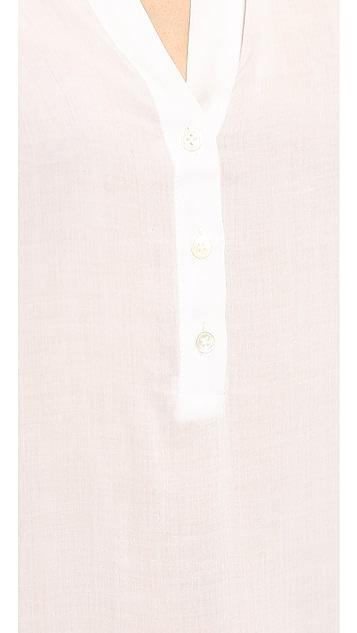 James Perse Chiffon Polo Tunic