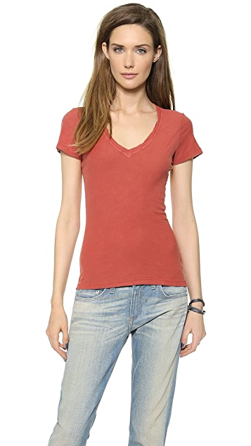 James Perse Reverse Binding Slub Tee