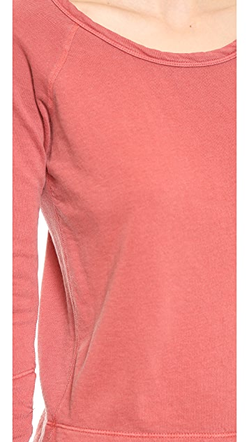 James Perse Vintage Cotton Raglan Pullover
