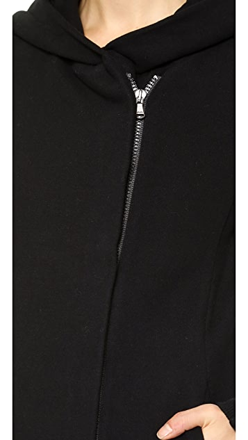 James Perse Hooded Fleece Zip Up Jacket