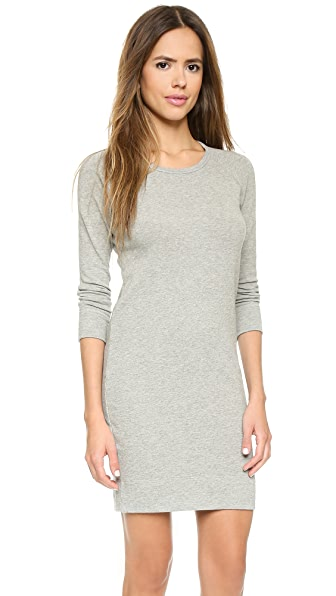 James Perse Raglan Sweatshirt Dress - Heather Grey