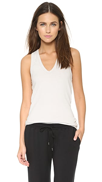 James Perse Skinny Brushed Jersey Racer Back Tank