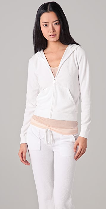 Juicy Couture Long Sleeve Terry Hoodie