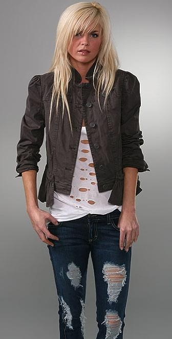 Juicy Couture Long Sleeve Peplum Jacket