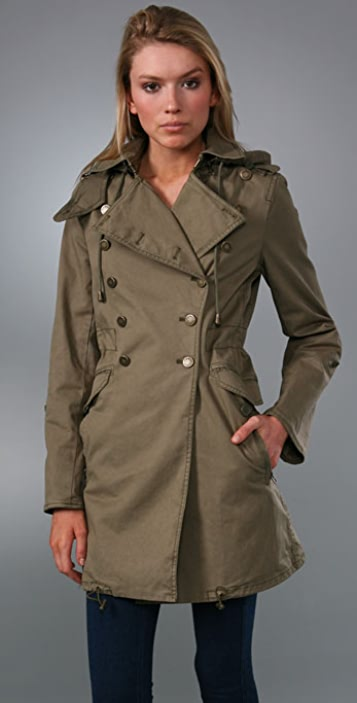 Juicy Couture Tony Military Hooded Coat