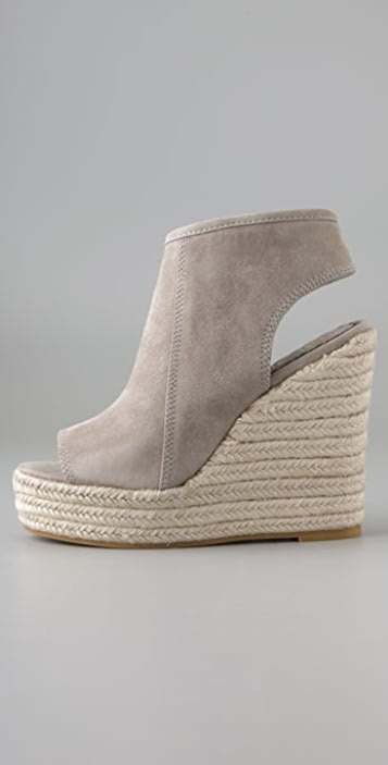 Juicy Couture Gillian Open Toe Suede Booties