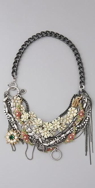 Juicy Couture Flower Punk Torsade Necklace