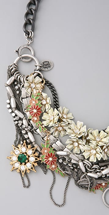 Juicy Couture Flower Punk Torsade Necklace