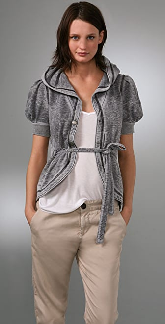 Juicy Couture Burnout Fleece Hooded Jacket