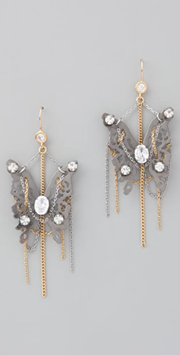 Juicy Couture Butterfly with Chain Earrings