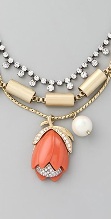 Juicy Couture Tulip Drop Necklace
