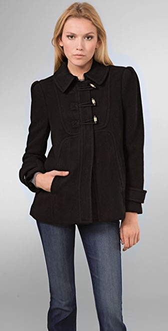 Juicy Couture Brushed Wool Twill Coat