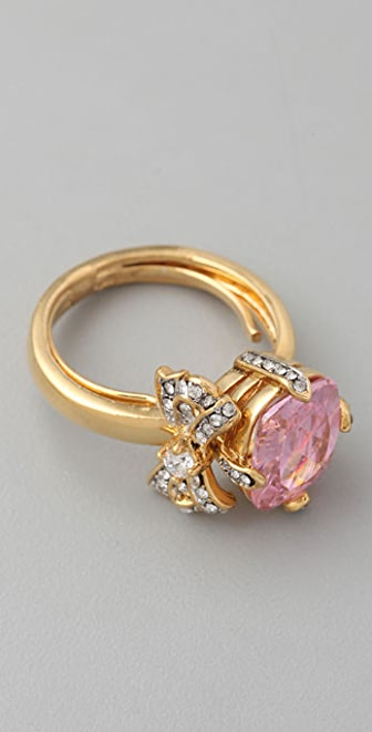 Juicy Couture Bow & Couture Cut Ring