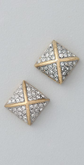 Juicy Couture Pave Pyramid Studs