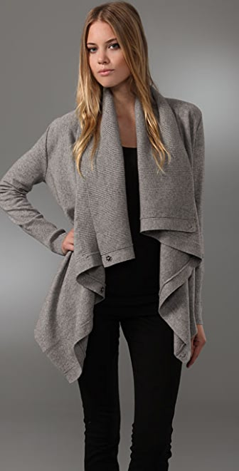 Juicy Couture Snap Front Cardigan