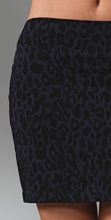 Juicy Couture Leopard Print Miniskirt