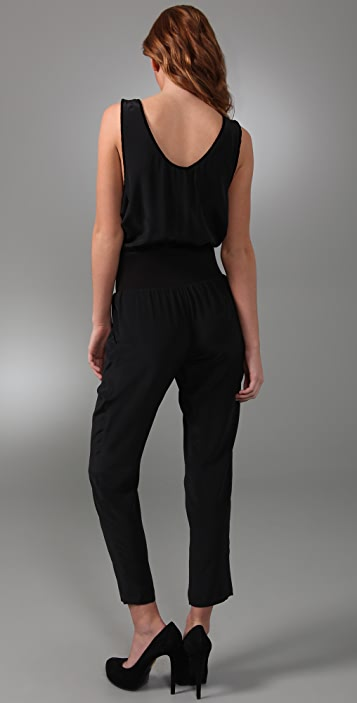 Juicy Couture Erin Fetherston for Juicy Silk Jumpsuit with Velvet Bow
