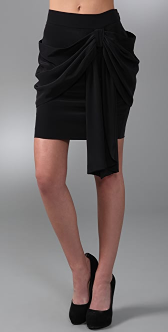 Juicy Couture Erin Fetherston for Juicy Draped Silk Skirt