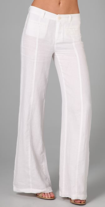 Juicy Couture Wide Leg Linen Pants | SHOPBOP