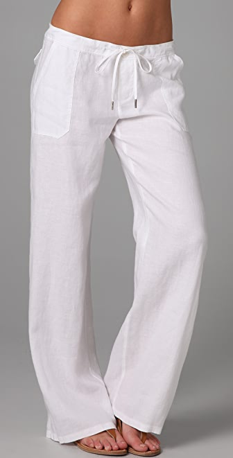 Juicy Couture Basic Linen Drawstring Pants | SHOPBOP
